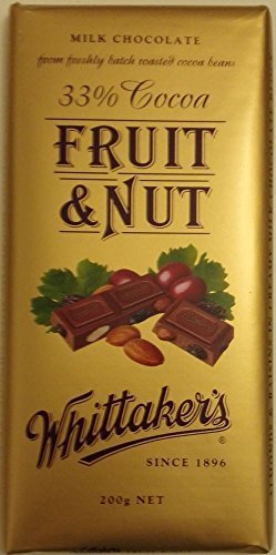 Whittakers Chocolate Block 200g Made In New Zealand Fruit Nut Milk Chocolate By Whittakers