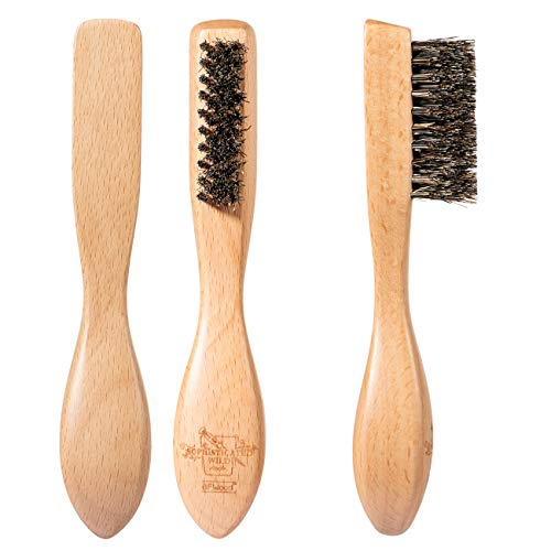 BFWood Beard Brush – Ergonomic Design with Unique Taper Bristle and Large Handle, for All Beard Hair