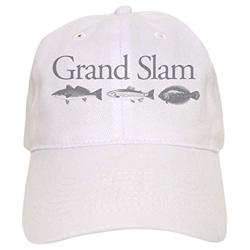 CafePress Redfish, Flounder and Trout Baseball Cap with Adjustable Closure, Unique Printed Baseball Hat White
