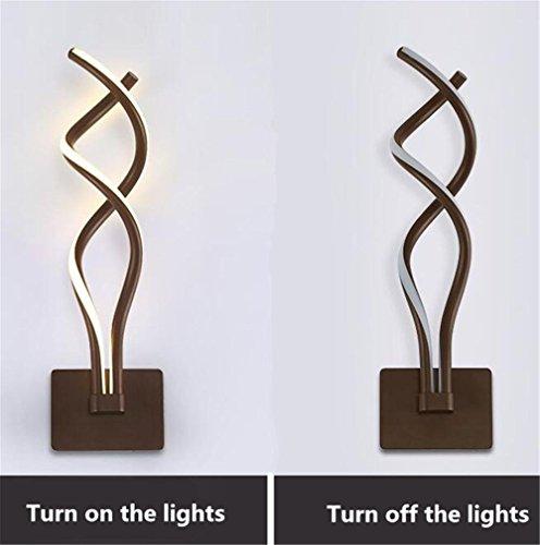 Zhas En Led Lumière Moderne Mur Aluminium Intérieure Courbe Lampe 3AL54jRq