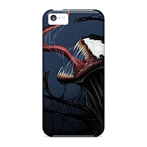 Shock Absorbent Cell-phone Hard Covers For Iphone 5c With Unique Design Lifelike Venom Pattern IanJoeyPatricia