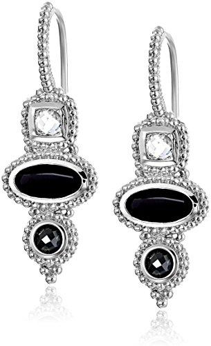 Judith Ripka Harmony 3-Stone Drop (Judith Ripka Bezel Earrings)