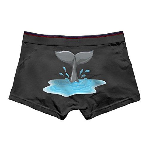 Whale Tail Spoiler - Ngyeyu Whale Tail Clipart Men's Underwear Cotton Vintage Boxer Briefs 3X Black