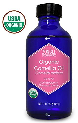 Zongle USDA Certified Organic Camellia Oil, Camellia Oleifera, 1 OZ (Organic Camellia Oil)
