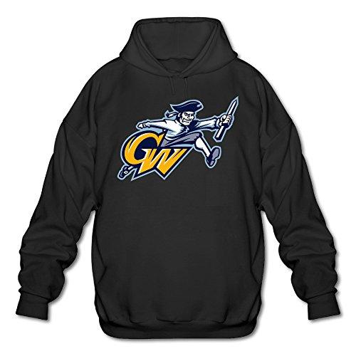 [Wesley George Washington University Men's Soft Pullover Hood Black XXL] (Lone Ranger Costume Shirt)