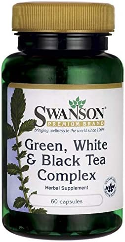 Swanson Green White Black Tea Complex 200 200 200 Milligrams 60 Capsules