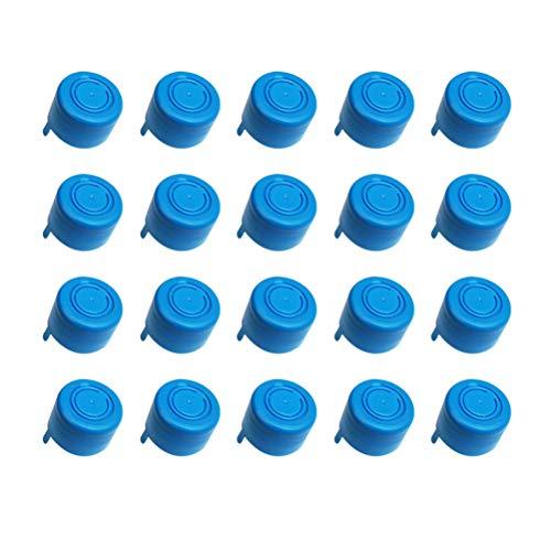 Vosarea 20pcs Reusable Non Spill Cap Anti Splash Bottle Caps Water Jug Sealing Caps for Home Office