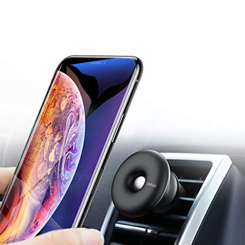 (Magnetic Phone Car Mount, Baseus Universal 360°Cell Phone Holder for Car Air Vent Cell Phone Cradle Mount Compatible with All iPhone Lg and Samsung Note Galaxy Plus Series and More (Black))