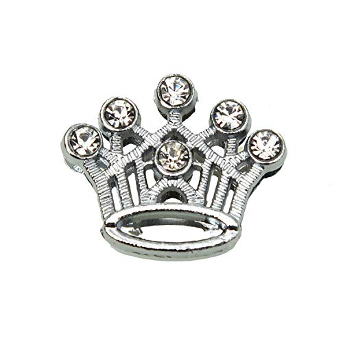 Crown Slide Charm - Monrocco 40pcs 10MM Full Rhinestone Crown Charms Slide Charms Letters Fit 10mm Belts Wristbands