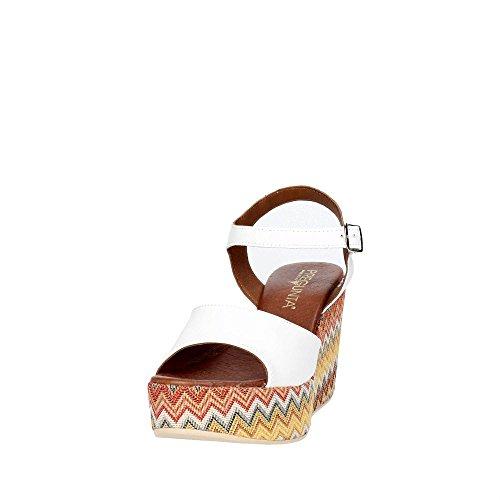 Blanc Pregunta 002 Femme PZ579 Sandale IBrwI5qPx