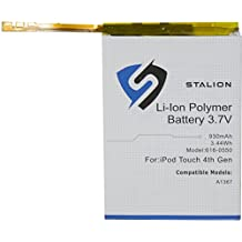 iPod Replacement Battery : Stalion Strength iPod Touch 4 (4th Generation) 930mAh 3.7V Li-Polymer Battery [24-Month Warranty](APN: 616-0550 : Apple Model A1367)