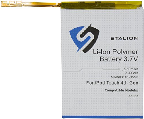 iPod Replacement Battery : Stalion Strength Li-Polymer Battery 930mAh 3.7V for Apple iPod Touch 4 (4th Generation)[24-Month Warranty](APN: 616-0550 : Apple Model (Ipod Touch Battery Replacement)