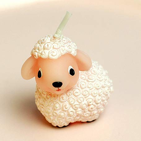 Sweet Homes & Gardens Adorable Cartoon Baby Sheep Candle Birthday Cake Topper Baby Shower Favors with Greeting Card Children's Day from Sweet Homes & Gardens