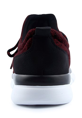 Santiro Mens Lightweight Athletic Fashion Sneakers Shoes Wine Red l609Io