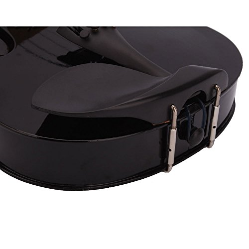 Lovinland 4/4 Acoustic Violin Beginner Violin Full Size with Case Bow Rosin Black by Lovinland (Image #7)