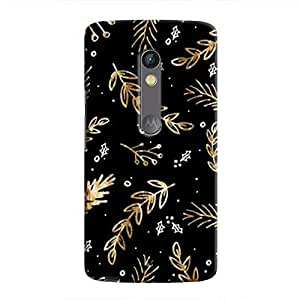 Cover It Up - Gold Holly Sprig Moto X Play Hard case