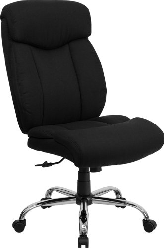 (Flash Furniture HERCULES Series Big & Tall 400 lb. Rated Black Fabric Executive Swivel)