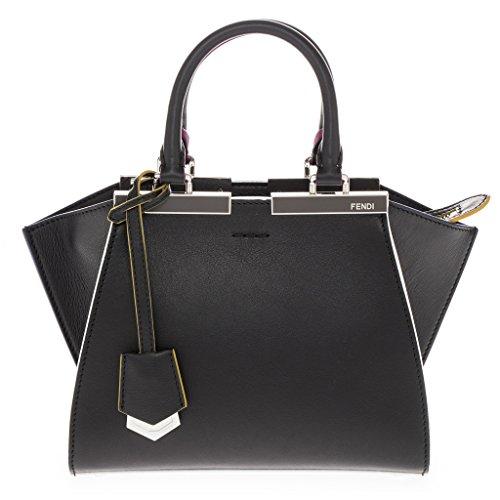 Fendi Women's Mini 3jours Shopping Multicolor Trim Top-Handle Bag Black Multi