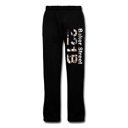 LQYG Bake Street Men's Workout Sweaterpants Light Weight Pants Black L (Pussycat Dolls Workout Video)