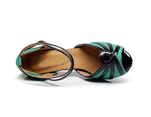 Minitoo - Zapatillas de danza para mujer Verde
