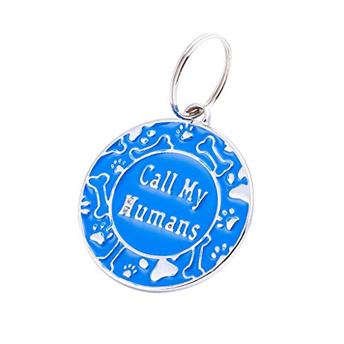 〓COOlCCI〓 Vet Recommended Pet ID Tag Dog and Cat Personalized | Many Colors to Choose from! Blue