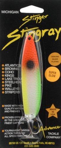 Advance Tackle Nuclear Veggies Michigan Stinger Stingray Spoon, Orange