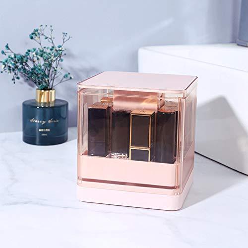 bestheart Lipstick Storage Box, Push Lipstick Organizer Holder With Lid Dustproof Lipgloss Holder Case Beauty Makeup Storage (A)