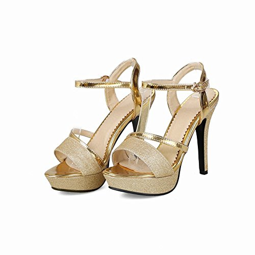 Carolbar Women's Fashion Chic Platform High Heel Peep Toe Dress Sandals Gold ogRj1HU0T