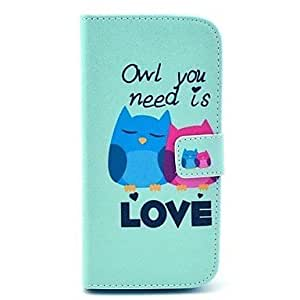 Two Owls Pattern Clamshell PU Leather Full Body Case by ruishername