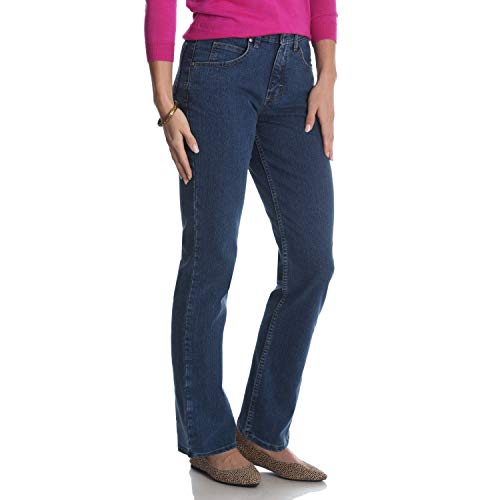 Petite Straight Leg Jeans - Riders by Lee Indigo Women's Classic-Fit Straight-Leg Jean, Gulf, 16 Petite