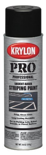 Krylon D05913 PRO Professional Solvent Based Striping Spray Paint Cover-Up, Black by Krylon ()