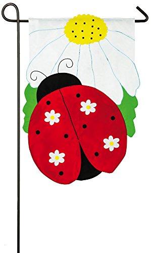 Daisy Ladybug Garden Flag