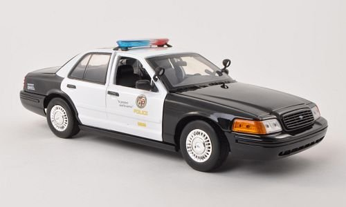 Ford Crown Victoria Police Interceptor, Los Angeles Police Department - LAPD, Police (USA) , 2001, Model Car, Ready-made, Motormax 1:18