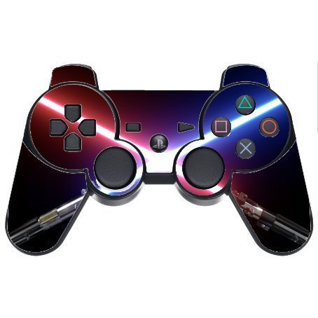 Crossed Blades PS3 Dual Shock wireless controller Vinyl Decal Sticker Skin by Demon Decal