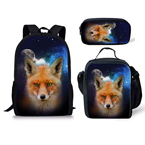 Cartable Chaqlin 1 Fox Moyen Noir 2 Fox 3pcs drq1rO