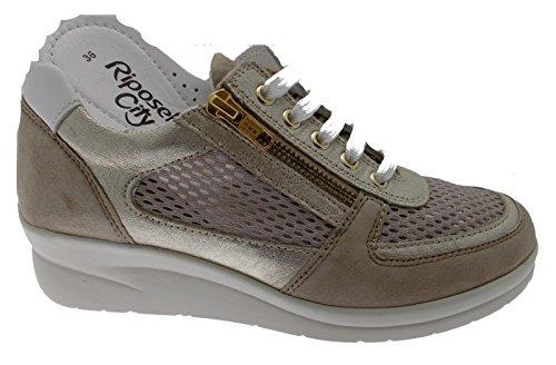 Riposella Des Sneaker Lacets 75652 Beige vvqpwazO