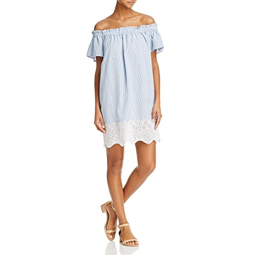 French Connection Women's Belle Stripes Mix Dress, Salt Water/Summer White, XS