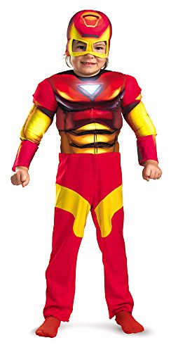 Baby-Toddler-Costume Iron Man Toddler Costume Muscle 2T Halloween Costume (Infant Iron Man Costume)