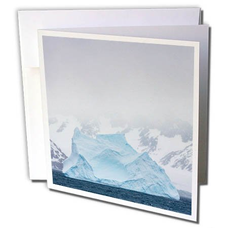 3dRose Danita Delimont - Icebergs - South Georgia Island. Large iceberg floats past mountains. - 6 Greeting Cards with envelopes (gc_257011_1) -