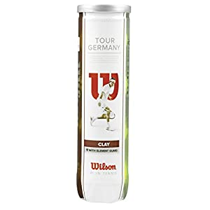Wilson Tennisball Tour Germany 4er Pack, Gelb, 1, WRT110900