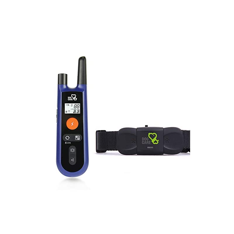 dog supplies online dog care dog training collar - upgrated dog shock collar w/3 training modes, beep, vibration and shock, 100% waterproof training collar, up to 1000ft remote range, 0~99 shock levels dog training set