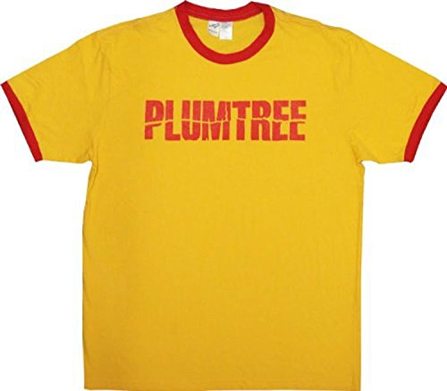 Scott Mens Bands - Plumtree Scott Pilgrim Band Logo Gold T-shirt Tee (Small)