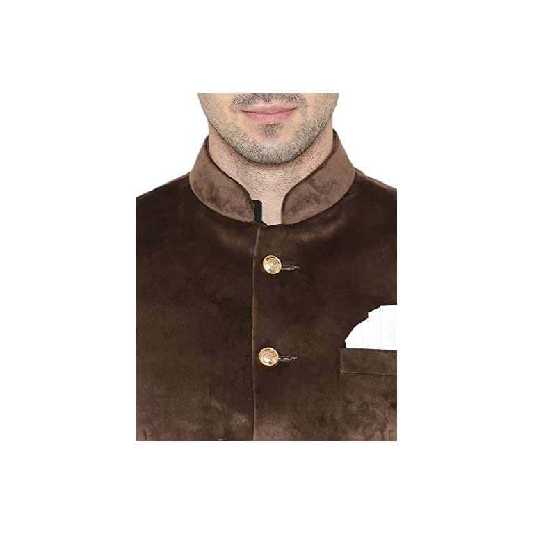 41kln2M5L0L. SS768  - WINTAGE Men's Velvet Grandad Nehru Blazer Coat Jacket