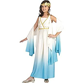 Greek Goddess Child Costume Size Medium (8-10)