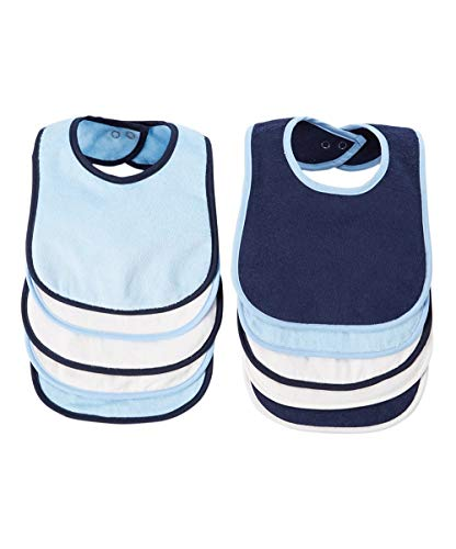 BornCare Triple-Layered 10-Pack Waterproof Super-Absorbent Terry Cloth Cotton Bib Set