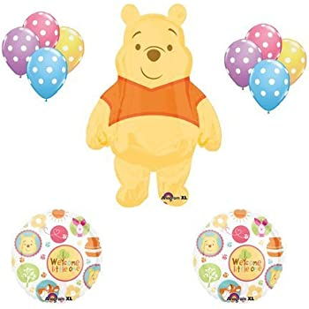 Winnie The Pooh Baby Shower Welcome Little One Balloon Bouquet Party Decor Toys Games