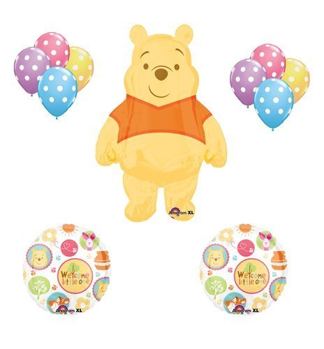 Winnie the Pooh Baby Shower Welcome Little One Balloon Bouquet Party Decor (Winnie The Pooh Baby Shower)