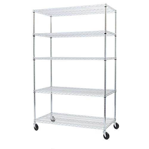 ier UltraZinc NSF Steel Wire Shelving /w Wheels, 24