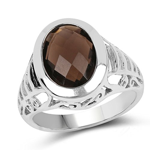 14x10MM Oval Smoky Quartz Ring