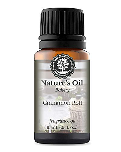 Cinnamon Roll Fragrance Oil (15ml) For Diffusers, Soap Making, Candles, Lotion, Home Scents, Linen Spray, Bath Bombs, Slime ()